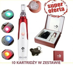 Derma Stamp Electric Pen - mezoterapia +10 kartridże